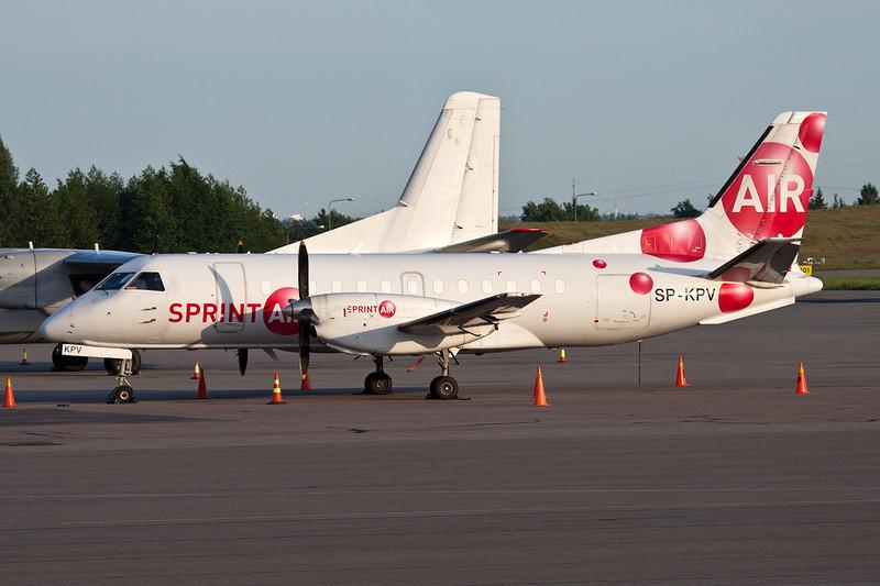 """SP-KPV SAAB  340AF """"Sprint Air""""  c/n 071 Helsinki-Vantaa/EFHK/HEL 18-06-11"""