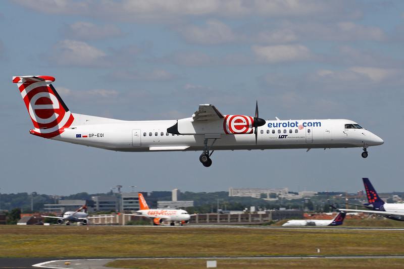 """SP-EQI de Havilland DHC-8Q-402NG """"Eurolot"""" c/n 4442 Brussels/EBBR/BRU 23-06-14"""