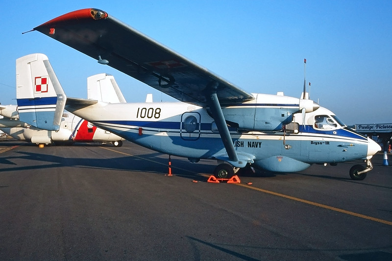 "1008 PZL-Mielec M-28 B1R Bryza ""Polish Navy"" c/n AJG001-02 Fairford/EGVA/FFD 25-07-99 (35mm slide)"