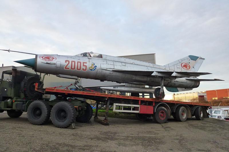 "2005 Mikoyan-Gurevich MiG-21M ""Polish Air Force"" c/n 962005 Maasbracht 29-12-12"