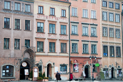 Buildings at the Castle Square in Warsaw, Poland