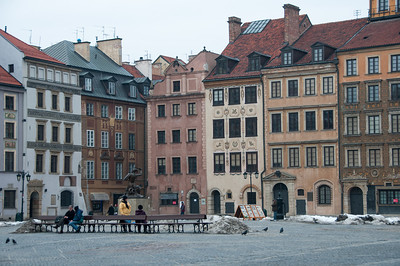 The Castle Square in Warsaw, Poland
