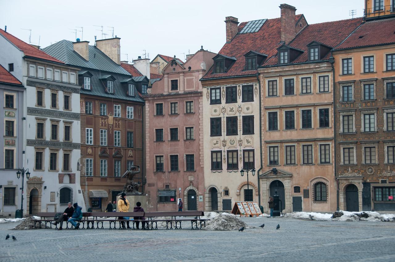 The Castle Square in Warsaw, Poland