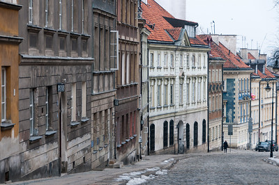 Street scene in Old Town Warsaw, Poland