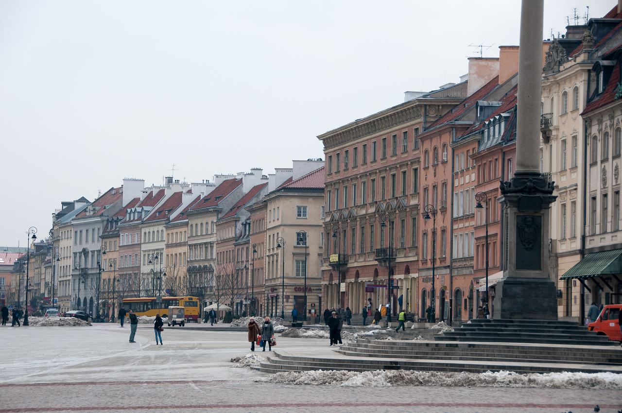 The scene at Castle Square in Warsaw, Poland