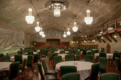 Banquet and conference facility inside the Wieliczka Salt Mine - Poland