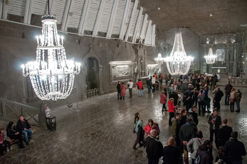 The St. Kinga Chapel in Wieliczka Salt Mine - Poland