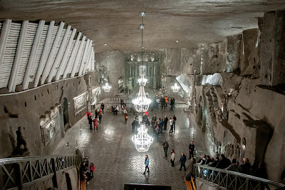 The St. Knga Chapel in Wieliczka Salt Mine in Poland