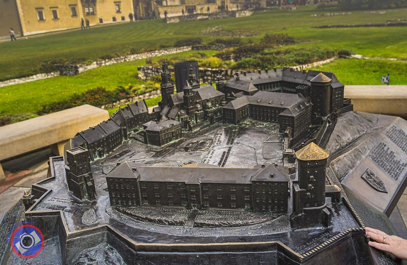 A Bronze Tactile Model of the Wawel Castle Complex (©simon@myeclecticimages.com)