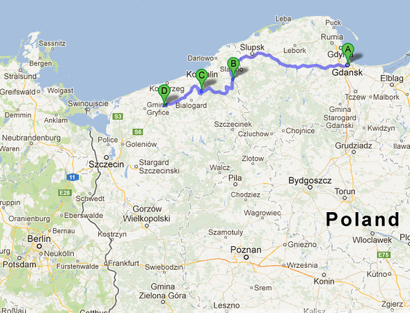Romantic road trip in Poland