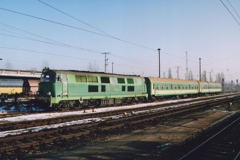 SU45 202 arriving at Frankfurt Oder.