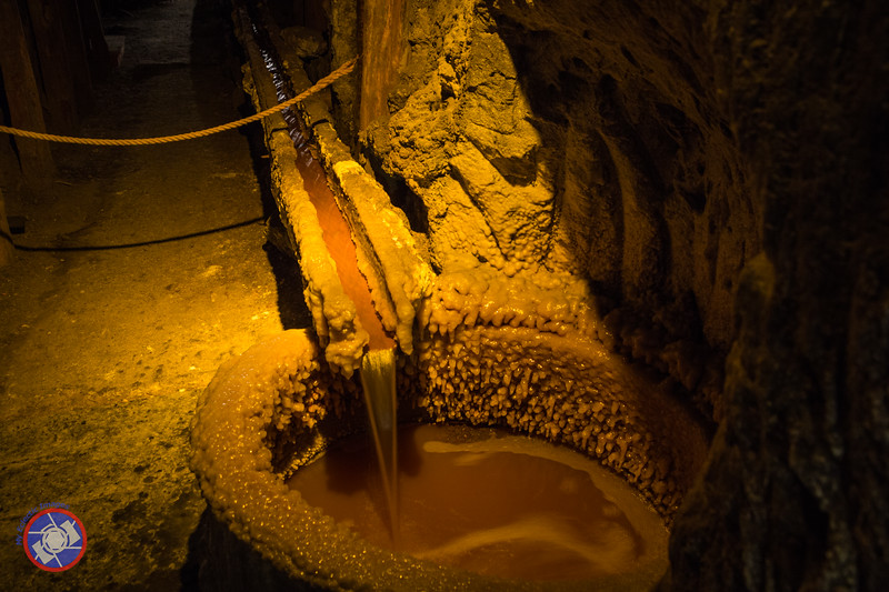 Capturing Water in the Lower Levels of the Wieliczka Salt Mine (©simon@myeclecticimages.com)