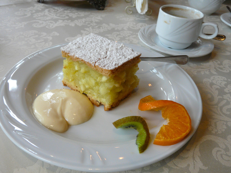 Apple cake at the Amber Palace