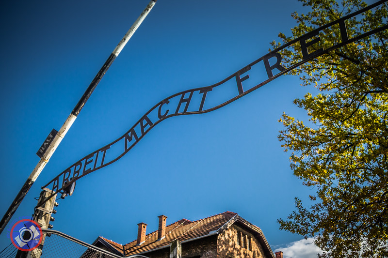 """The Iconic Entrance to Auschwitz  - """"Work Makes Free"""" (©simon@myeclecticimages.com)"""