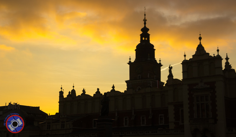 Buildings in the Main Square Silhouetted Against an Evening Sky (©simon@myeclecticimages.com)