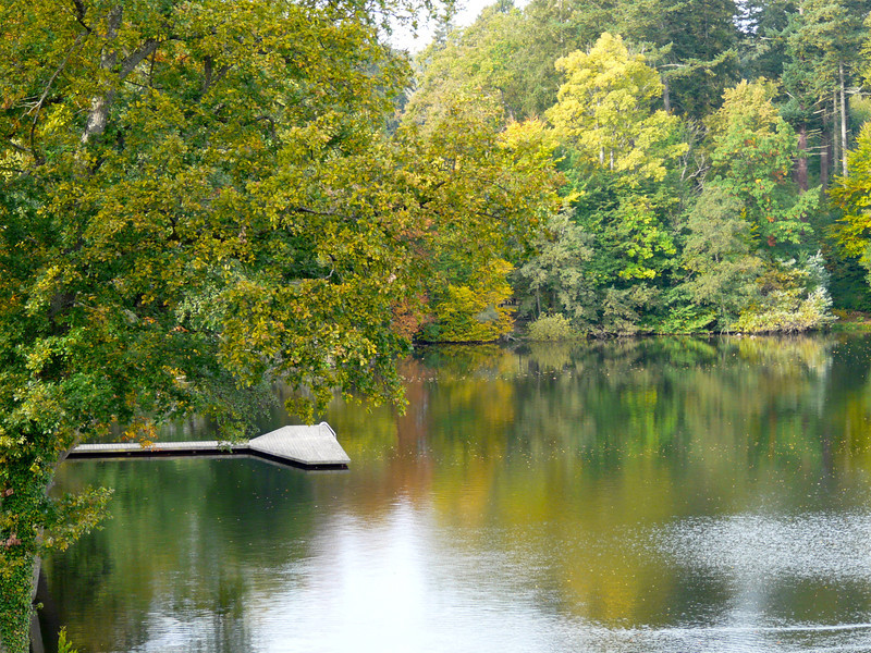 Swimming dock at Podewills Castle