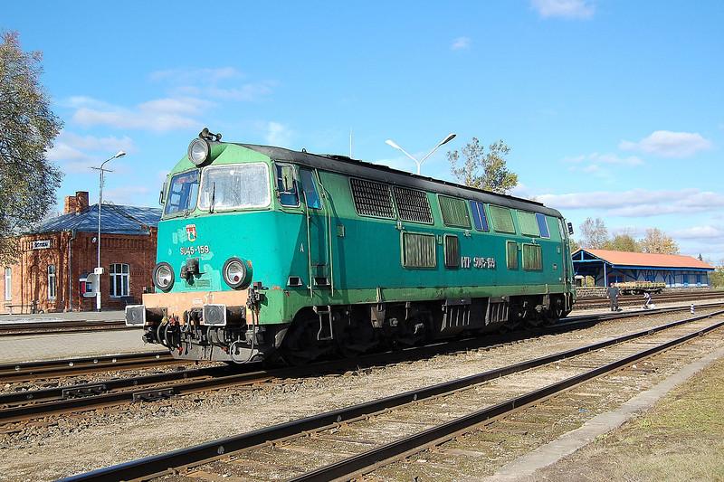 Polish SU45 159 at Sestokai, Lithuania.