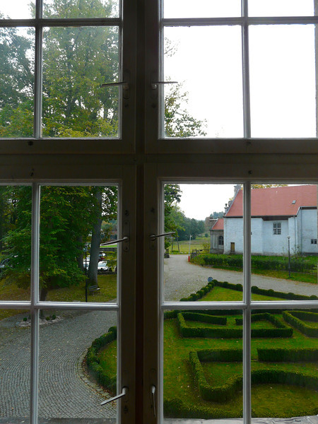 Looking outside at Podewills Castle