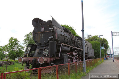 Steam Loco in Rzepin Station, Poland
