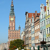 Colorful buildings on Long Market Street in Old Town, Gdansk, Poland