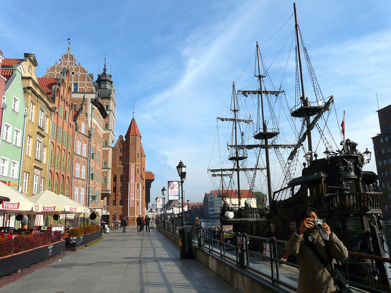 Walking the Esplanade in Gdansk, Poland, is part of a self-guided walking tour of the city. Enjoy the history and colorful charm of this Polish city.