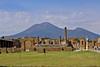 Mount Vesuvius and Pompeii ruins