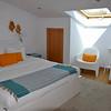 The apartment's cozy bedroom