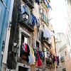Laundry day in the Bairro Alto area of Lisbon