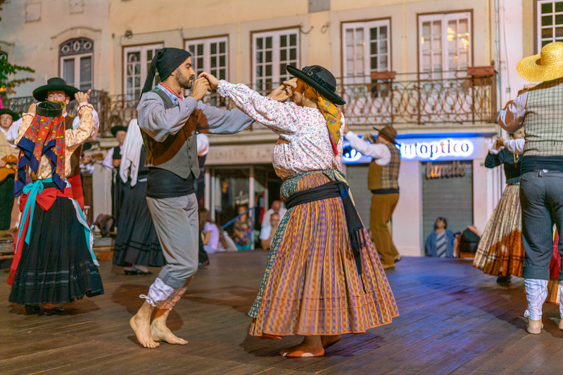 Some traditional dancing on the street in Coimbra.