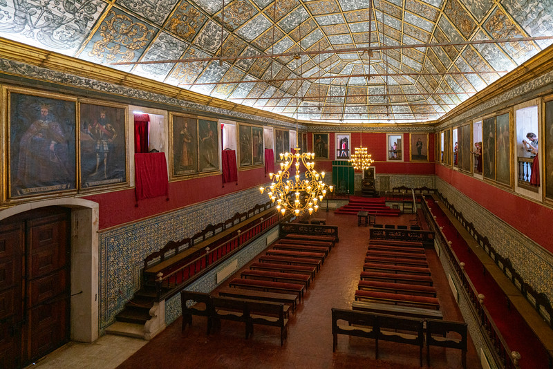 The Grand Hall or Sala dos Capelos at the Univeristy of Coimra.