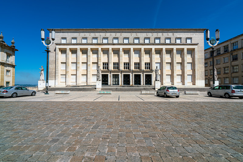 Faculdade de Letras da Universidade de Coimbra. This is one of the buildings on campus that is built in fascist style.