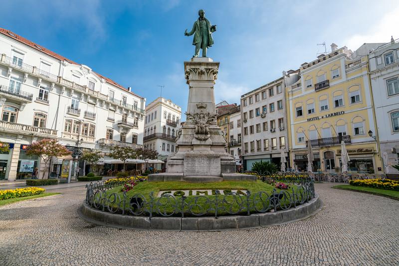 Monument to Joaquim António de Aguiar...local boy who was Prime Minister 1841-1842.