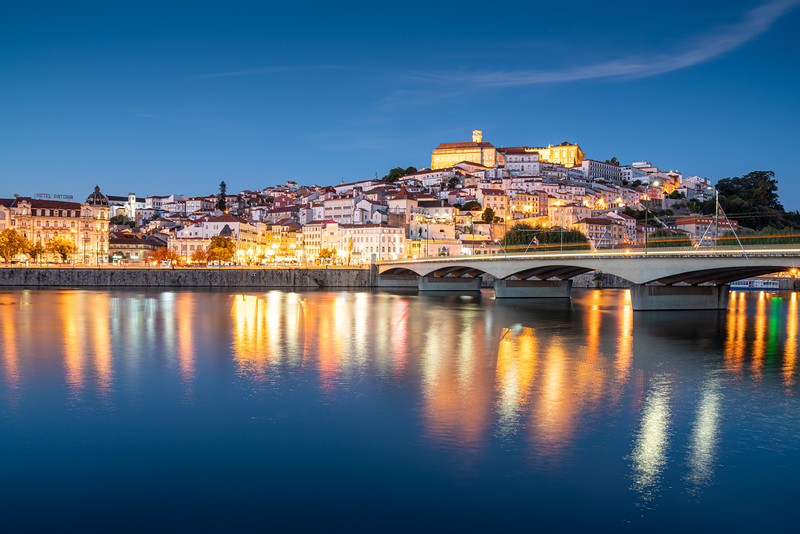 One evening I walked across the Santa Clara Bridge to enjoy the view of Coimbra from the other side of the Mondego River. The univeristy is at the top of the hill, the Hotel Asoria to the left.