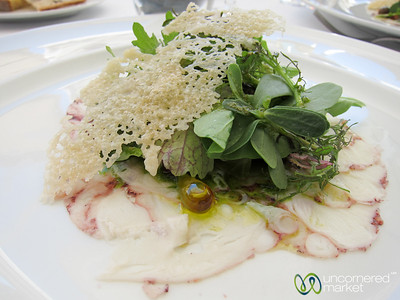 Octopus (Pulpo) Carpaccio at DOC Restaurant - Douro Valley, Portugal