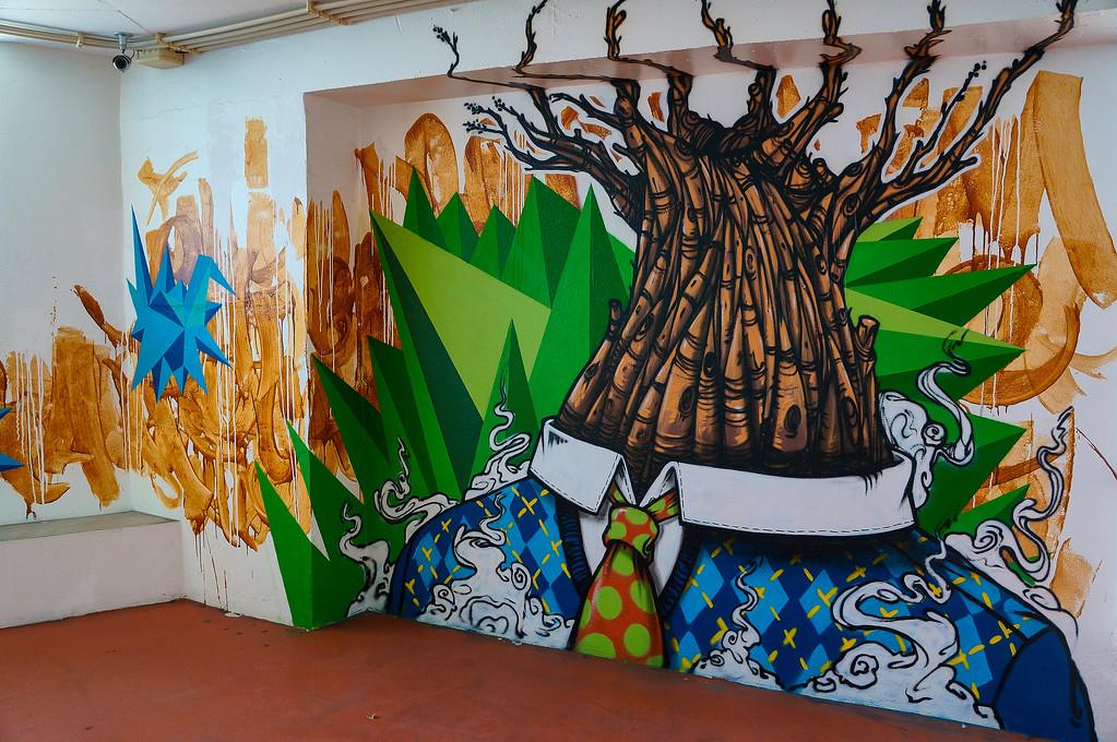 Street art by Mar in Lisbon, Portugal