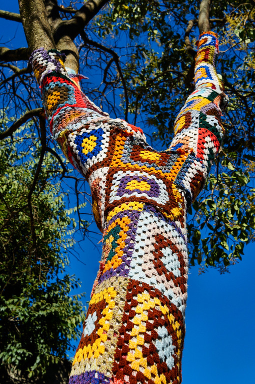 Crochet art in Lisbon, Portugal