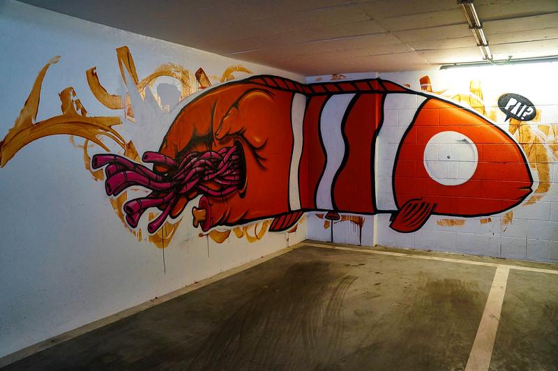 Nemo mural by Mar in Lisbon, Portugal