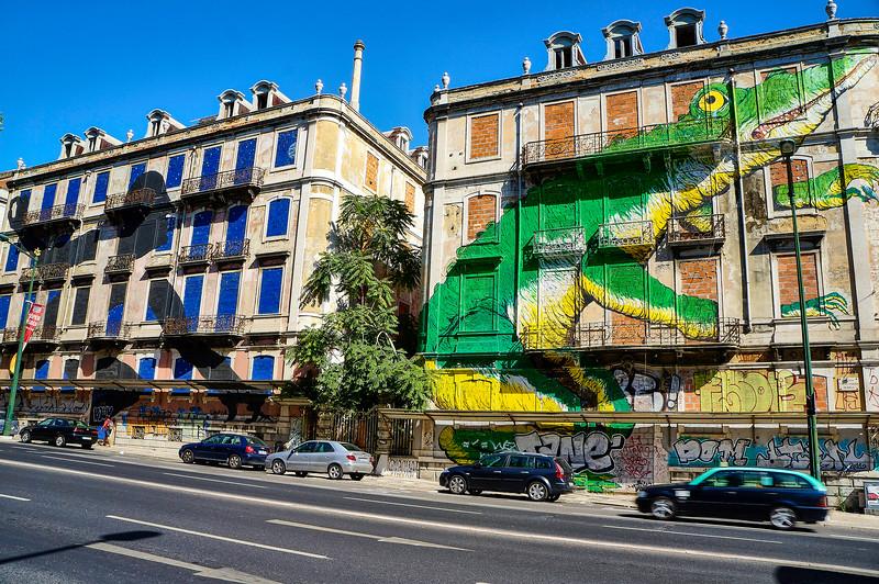 Ericailcane mural in Lisbon, Portugal