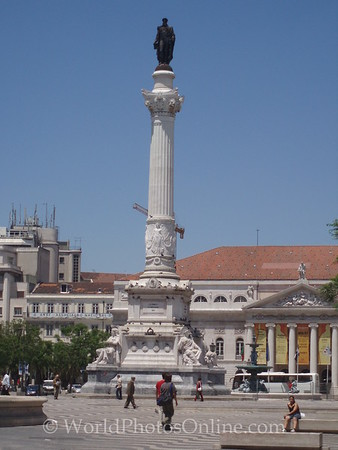 Lisbon - Praca Dom Pedro IV - Statue of Dom Pedro IV
