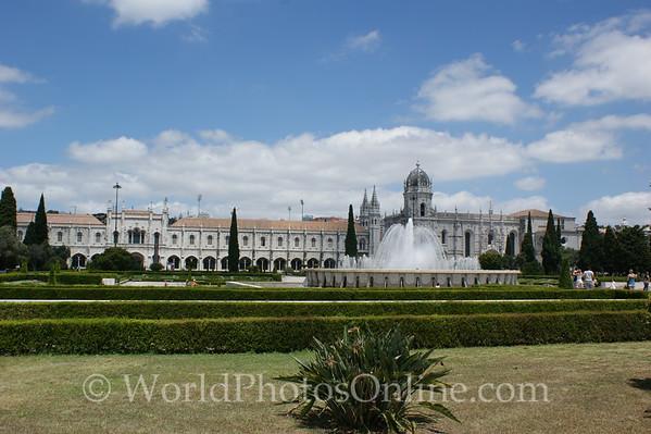 Lisbon - Monastery of Saint Jerome with Fountain