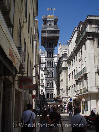 Lisbon - Elevador de Santa Justa - Wrought-iron lift to Carmo Square