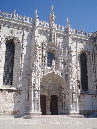 Lisbon - Monastery of Saint Jerome - Manueline Entrance