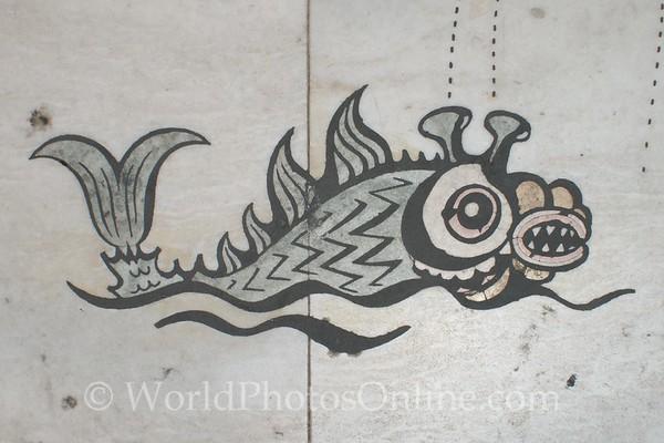 Lisbon - Padrao dos Descobrimentos - Discoveries Plaza - Sea Monster Mosaic