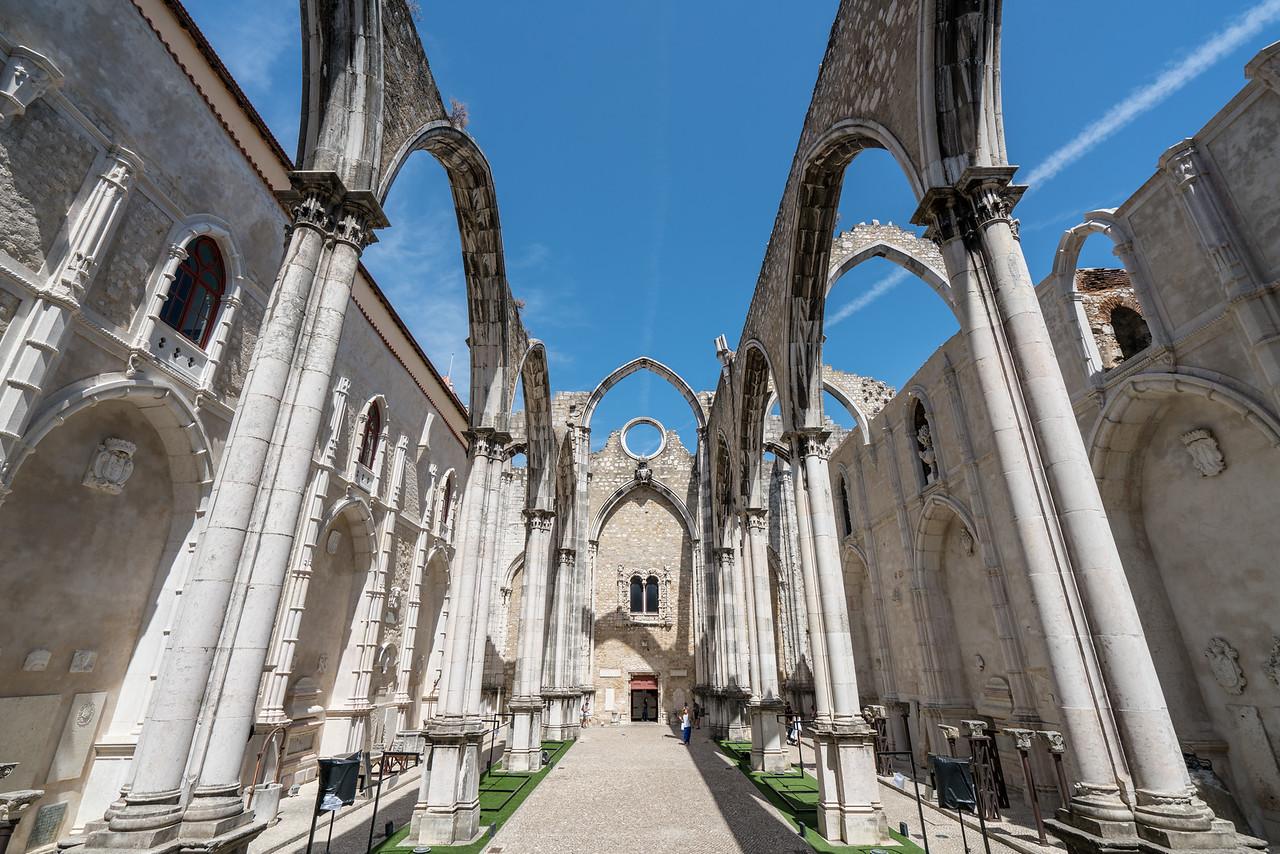 The ruins of the Convento do Carmo.