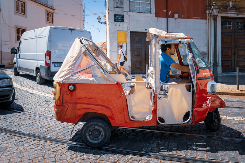 Lisbon is busy with tuk tuks now.