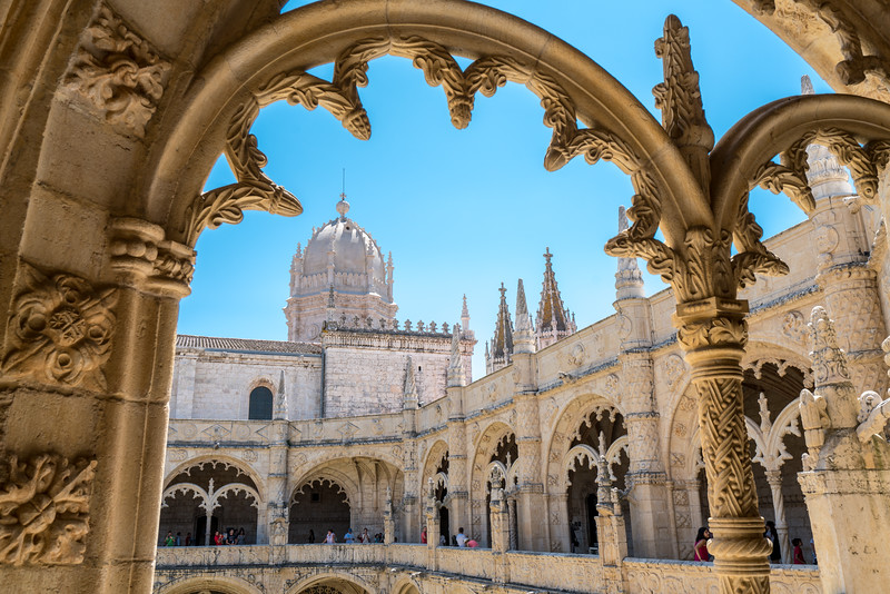 A detail at Jerónimos Monastery showing off the Manueline Architecture from the the peak of Portugal's power, 1480-1580.