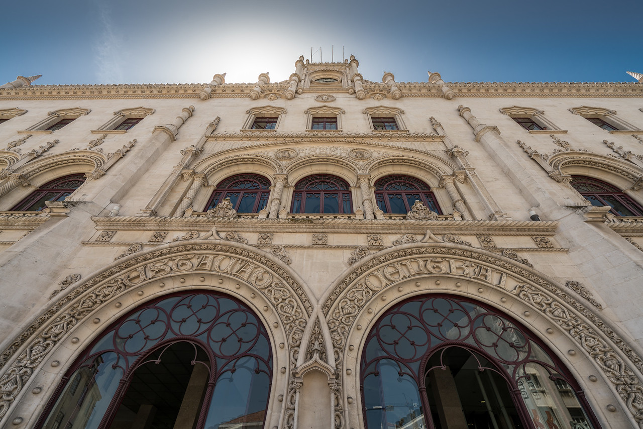 The Rossio Station was built in 1900 in the Neo-Manueline style.