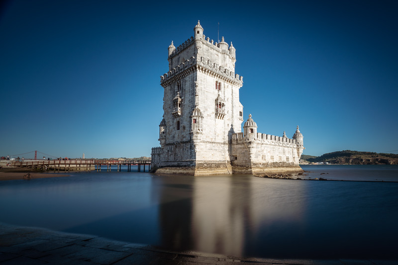 Belem Tower was built 1515-1520 and protected Lisbon's harbor.