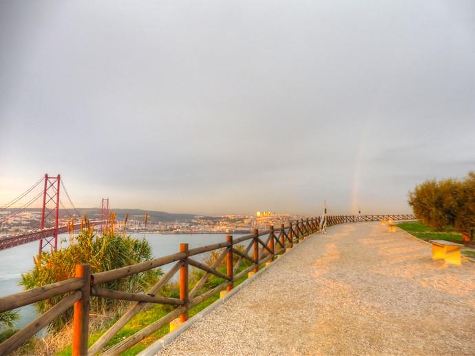 lisbon portugal rainbow
