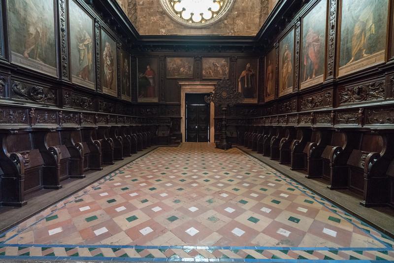 The Upper Choir or Coro Alto at Jerónimos Monastery.